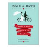 Économies tandem de bicyclette les cartes de date carton d'invitation  12,7 cm x 17,78 cm