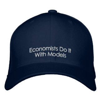Economists Do It With Models Dark Color Text Hat