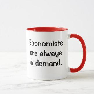 Economists in Demand. Witty Economics Quote Slogan Mug