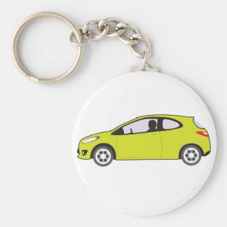 Economy Car Basic Round Button Keychain