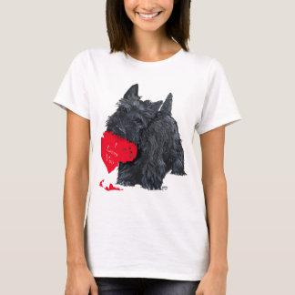 Écossais espiègle Terrier Valentine T-shirt