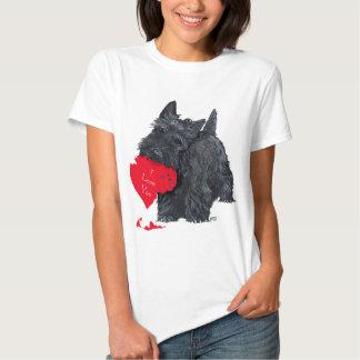 Écossais espiègle Terrier Valentine T-shirts