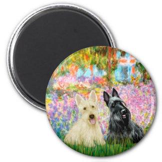 Écossais Terrier deux BW - jardin Magnets Pour Réfrigérateur