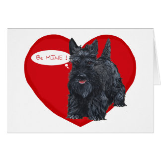Écossais Terrier Valentine Carte