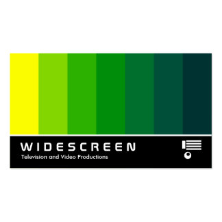 Écran géant 163 - Mélange de couleur - jaune au ve Cartes De Visite Professionnelles