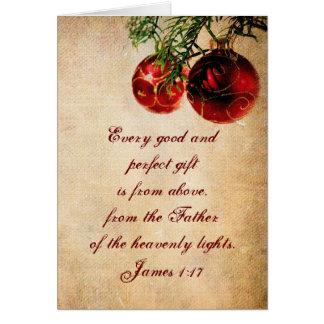 Écriture sainte chrétienne - carte de Noël customi