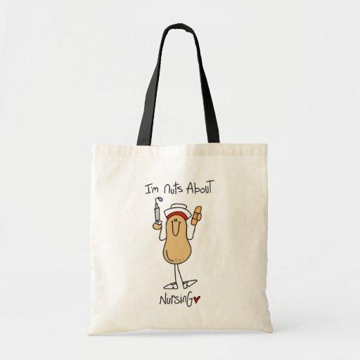 Écrous au sujet de T-shirts et de cadeaux de soins Sac