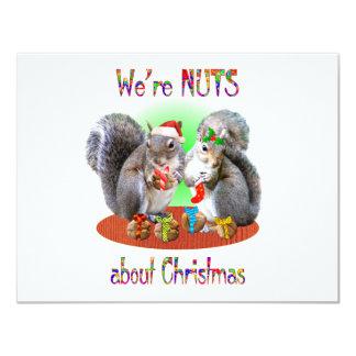 Écrous de Noël d'écureuil Cartons D'invitation