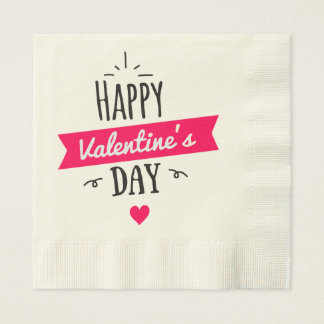 Ecru Coined Luncheon Paper Napkins Valentine's