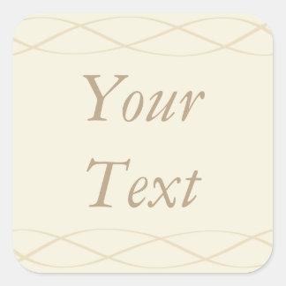 Ecru & Cream Stickers or Labels w/ Custom Text