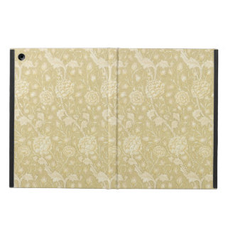 Ecru Floral Pattern by William Morris Ipad cases