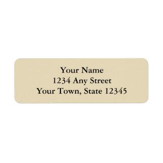 Ecru or Beige Printed Return Address Labels