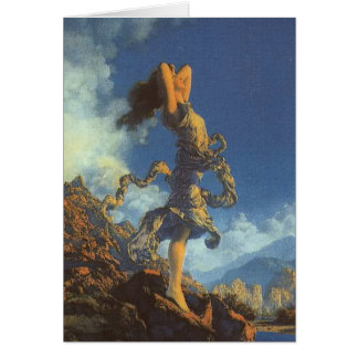 Ecstacy 1930 Maxfield Parrish Vintage Art Card