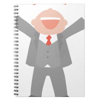 Ecstatic Business Man Notebook