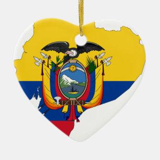 Ecuador Ceramic Heart Ornament