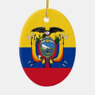 Ecuador Ceramic Oval Ornament