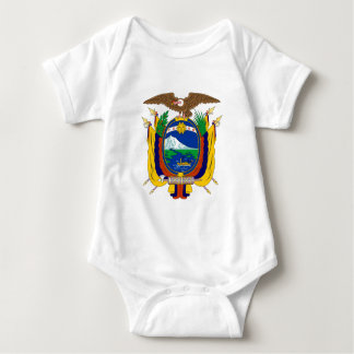 Ecuador coat of arms baby bodysuit