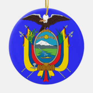 ECUADOR*- Coat of Arms Christmas Ornament