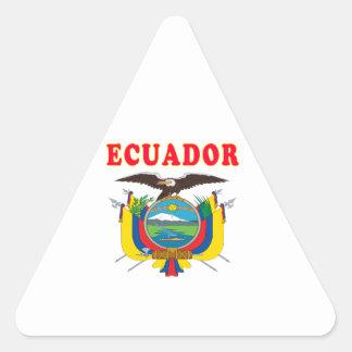 Ecuador Coat Of Arms Designs Triangle Sticker