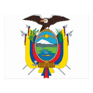 Ecuador Coat Of Arms Postcard