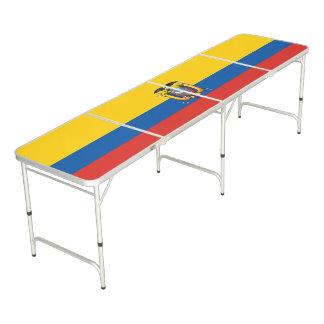 Ecuador country flag symbol long beer pong table