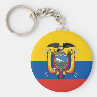 Ecuador country flag symbol long keychain