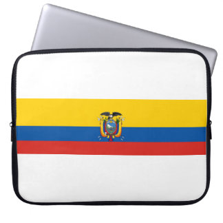 Ecuador country flag symbol long laptop sleeve