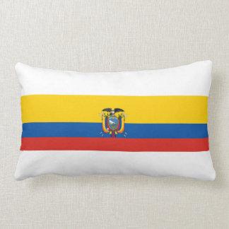 Ecuador country flag symbol long lumbar pillow