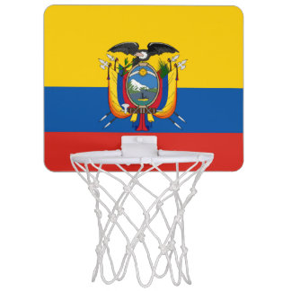 Ecuador country flag symbol long mini basketball hoop