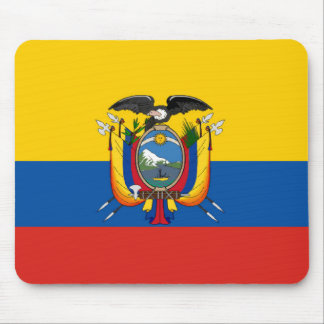 Ecuador country flag symbol long mouse pad