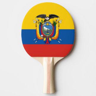Ecuador country flag symbol long ping pong paddle