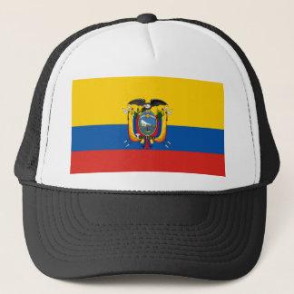 Ecuador country flag symbol long trucker hat