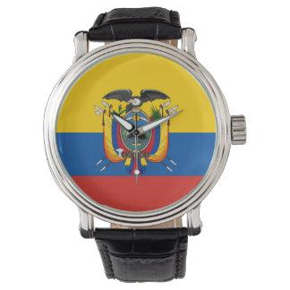 Ecuador country flag symbol long watch