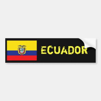 Ecuador flag bumper bumper sticker