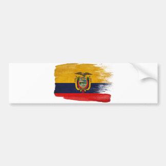 Ecuador Flag Bumper Sticker