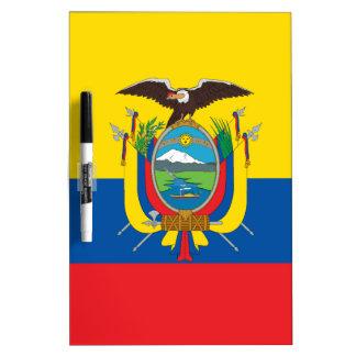 Ecuador Flag Dry Erase Board