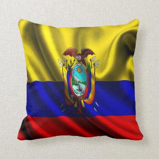 Ecuador Flag Fabric Throw Pillow