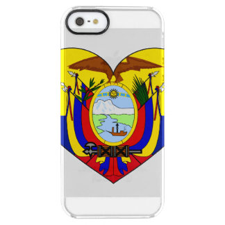 Ecuador Flag Heart Clear iPhone SE/5/5s Case