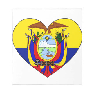 Ecuador Flag Heart Notepad