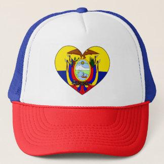 Ecuador Flag Heart Trucker Hat