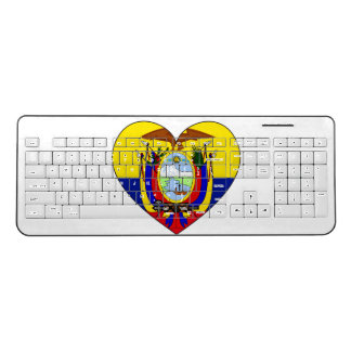 Ecuador Flag Heart Wireless Keyboard