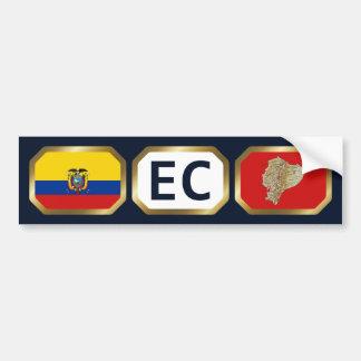 Ecuador Flag Map Code Bumper Sticker