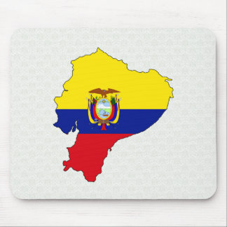 Ecuador Flag Map full size Mouse Pad