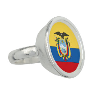Ecuador Flag Photo Ring