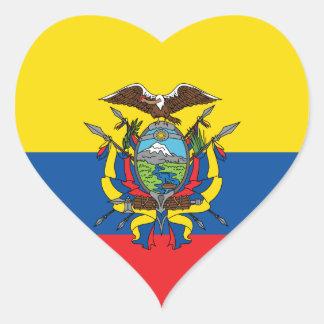 Ecuador Flag, Republic of Ecuador Love Sticker