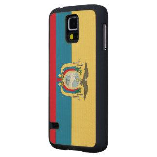 Ecuador Flag Carved® Maple Galaxy S5 Slim Case