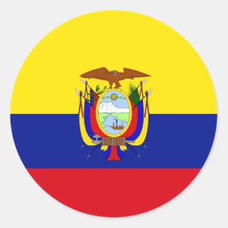 Ecuador High quality Flag Classic Round Sticker