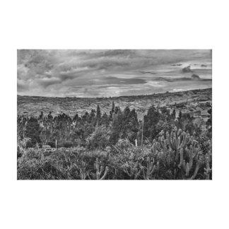 Ecuador Landscape Scene at Andes Range Canvas Print
