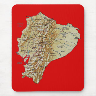 Ecuador Map Mousepad