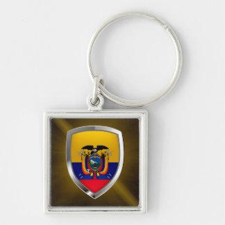 Ecuador Mettalic Emblem Keychain